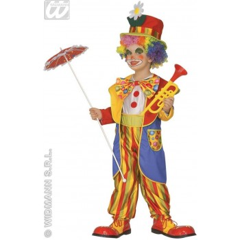 Clown With Jumpsuit, Coat, Bow-Tie, Hat Fancy Dress (Clowns)