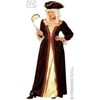 Venetian Noblewoman With Dress, Hat Fancy Dress Costume (Renaissance)