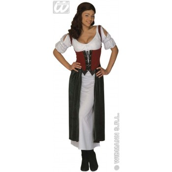 Lucrezia Wench Dress Adult Velvet Fancy Dress Costume (Pirates)