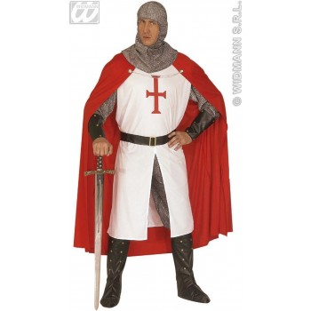 Crusader With Long Coat, Pants, Belt.. Fancy Dress Mens (Medieval)