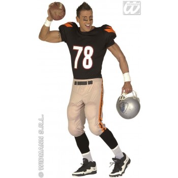 American Footballer Adult Fancy Dress Costume Mens (Sport)