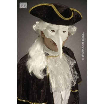 White Venice Mask White Paintable - Fancy Dress