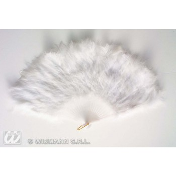 Feather Fan White - Fancy Dress
