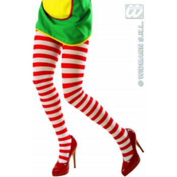 Pantyhose Striped Red/White - Fancy Dress