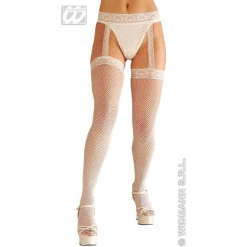White Lace Top Thigh Highs - Fancy Dress (Christmas)