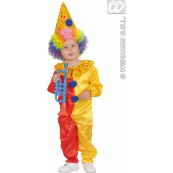 Clown Jumpsuit & Hat 98 - 104 Cm Fancy Dress Costume (Clowns)