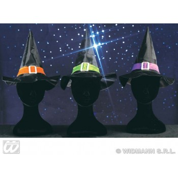 Child Witch Hat W/Band And Buckle - Fancy Dress (Halloween)