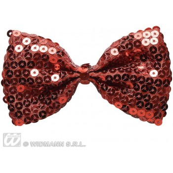 Red Sequin Bow Ties - Fancy Dress