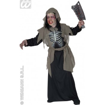 Zombie With Hooded Robe, Hologr. Fancy Dress Costume (Halloween)