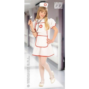 Heavy Fabric Fiberoptic Nurse Fancy Dress Costume Girls (Doctors/Nurses)