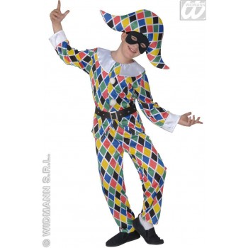 Satin Harlequin Child Costume Fancy Dress Costume (Clowns)