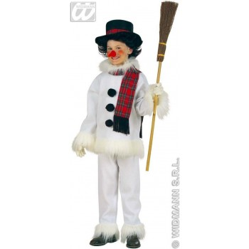 SNOWMAN FLANNEL & PLUSH FANCY DRESS COSTUME BOYS (CHRISTMAS)