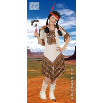Native American Girl With Dress Fancy Dress Costume Girls (Cowboys/Native Americans)