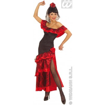 Senorita Adult Costume Velvet/Satin Fancy Dress Costume (Spanish)