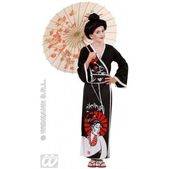 Geisha With Kimono, Belt, Chopsticks Fancy Dress Girls (Oriental)