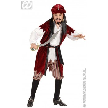 Caribbean Pirate With Shirt W/Vest, Pants, Fancy Dress (Pirates)
