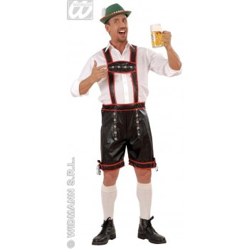 Lederhosen L/Look Adult Fancy Dress Costume Mens (Cultures)