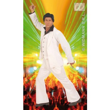 Disco Fever Suit White Adult Heavy Fabric Costume Mens (1970S)