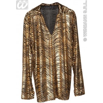 Disco Fever Shirts Gold/Silver Fancy Dress Costume (1970S)
