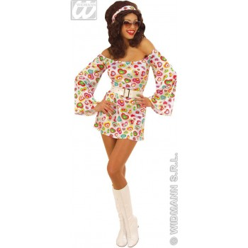 70S Cutie Dress Adult Fancy Dress Costume Ladies (1970S)
