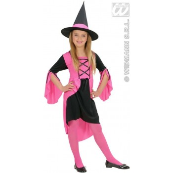 Pink Witch Child Fancy Dress Costume Girls (Halloween)