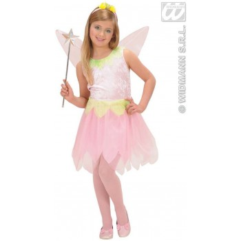 Pink Flower Pixie Child Fancy Dress Costume Girls (Fairy Tales)