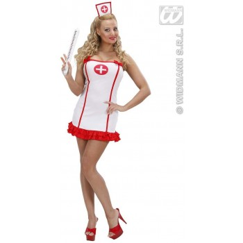 Lycra White Nurse Fancy Dress Costume Ladies (Doctors/Nurses)