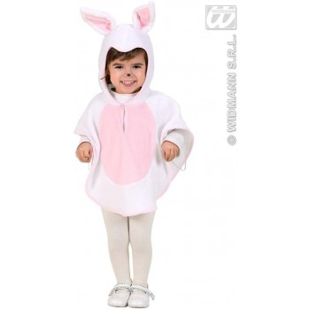 Plush Bunny Hooded Poncho 98, 110Cm Fancy Dress Costume (Animals)