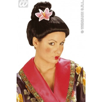 Fujiko Wig With Flower - Fancy Dress