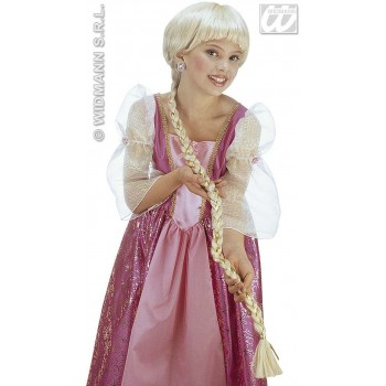 Rapunzel Wig With Plait In Polybag - Fancy Dress