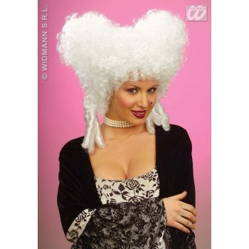 Baroque Noblewoman Wig White - Fancy Dress Ladies