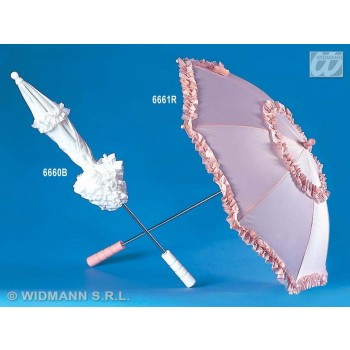 White Umbrella Belle Epoque 72Cm - Fancy Dress