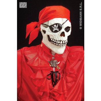 PIRATE SKULL MASK W/SCARF AND EARRING - FANCY DRESS (PIRATES)