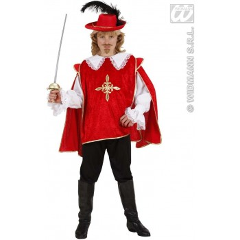 Red Musketeer Fancy Dress Costume Boys (Musketeers)