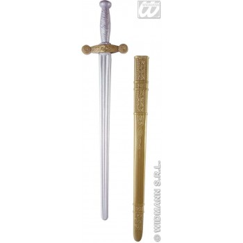 Knight Sword W/Scabbard 75Cm - Fancy Dress