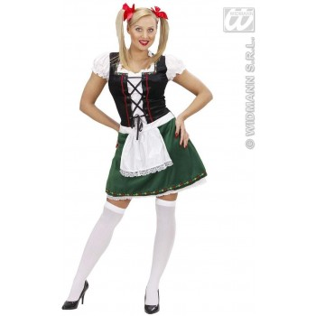 Bavarian Girl Fancy Dress Costume Ladies (Cultures)
