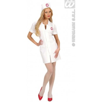 QUALITY FABRIC NURSE FANCY DRESS COSTUME LADIES (DOCTORS/NURSES)