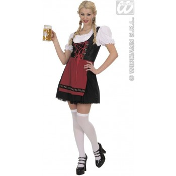Bavarian Beer Maid Fancy Dress Costume Ladies (Cultures)