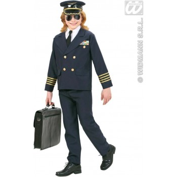 Heavy Fabric Pilot Fancy Dress Costume Boys (Pilot/Air)