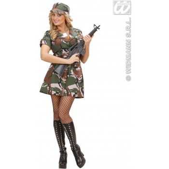 Us Army Soldier Girl Fancy Dress Costume Ladies (Army)
