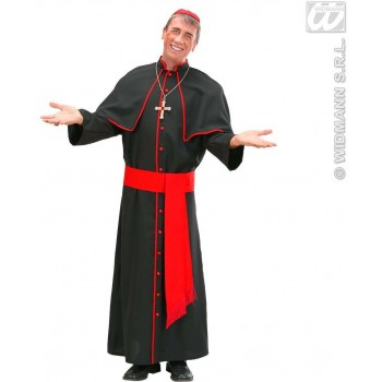 Heavy Fabric Cardinal Fancy Dress Costume Mens (Vicars/Nuns)