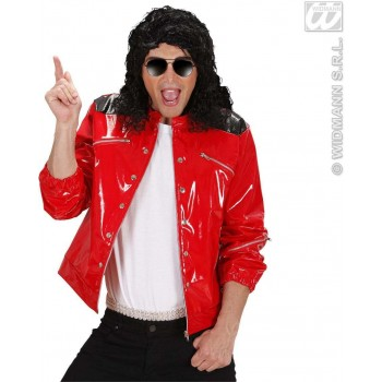 Vinyl Pop Star Jacket W/Zippers Fancy Dress Costume (Music)
