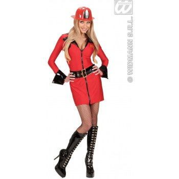 Fire Fighter With Dress, Belt Fancy Dress Costume (Fire Service)