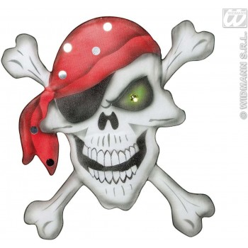 Pirate Skull Crossbones Wall Deco 49X49Cm - Fancy Dress (Pirates)