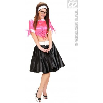 Black Satin Skirt W/Petticoat - Fancy Dress