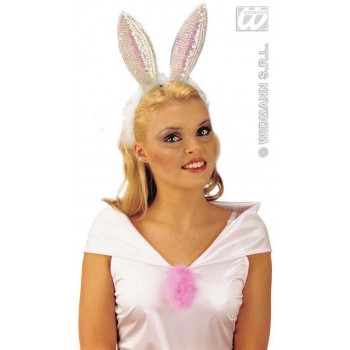 Rabbit Ears Sequin - Fancy Dress (Animals)