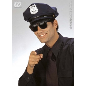 Police Hat Fabric Peaked - Fancy Dress (Cops/Robbers)