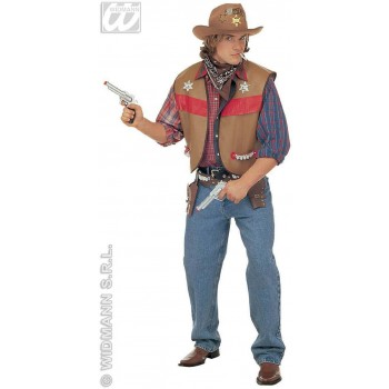 Buffalo Bill Vest Adult Fancy Dress Costume Mens