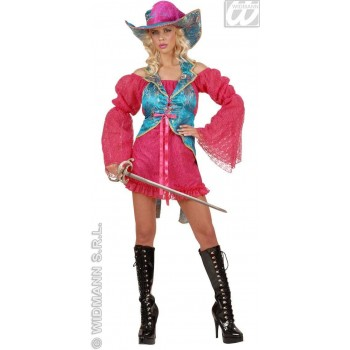 Madame Musketeer Pink/Blue Ladies Costume Size 10-12 M (Musketeers)  sc 1 st  Fun Fancy Dress & Musketeer Fancy Dress Costumes