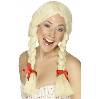 Schoolgirl / Dutch Wig - Fancy Dress Ladies (School)